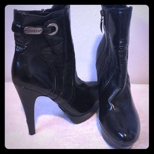 FINAL OFFER $15! GUESS leather ankle boot heels